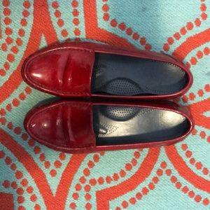SAS Tripad Comfort red slip on shoes